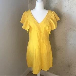 Dresses & Skirts - Yellow Linen Dress